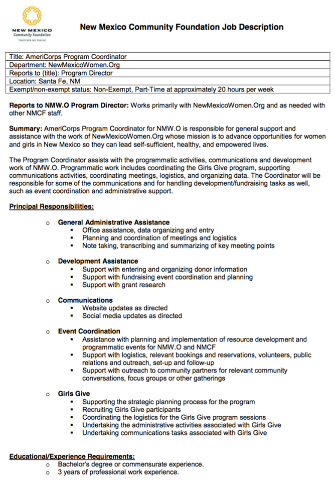 Youth Development Peace Corps Resume